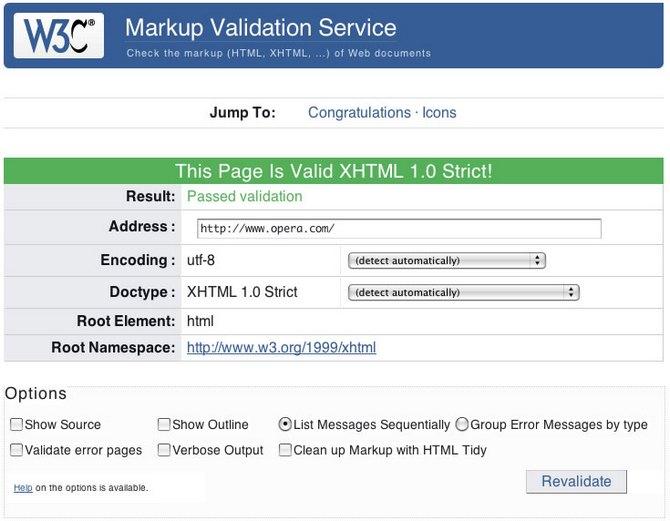 Онлайн проверка сайта на валидность html через сервисы или расширения браузера